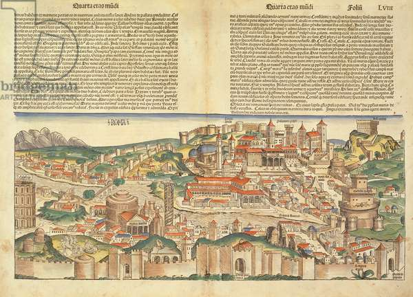 View of the City of Rome, from the Nuremberg Chronicle by Hartmann Schedel (1440-1514) 1493 (woodcut)
