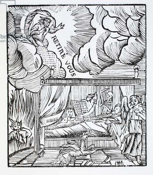 The state of man dying in mortal sin (litho)