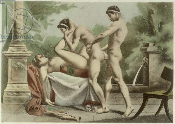Ancient Times, plate XVIII from 'De Figuris Veneris' by F.K. Forberg, engraved by Edouard-Henri Paul Avril (1849-1928) 1900 (litho)