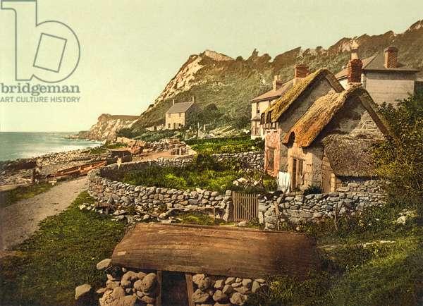 Cliffs,  Shanklin, IOW, pub. c.1890 - 1900 (chromolithograph)