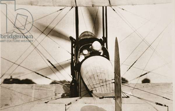 An Important Unit of the Force Britain has to oppose German Air-Raiders: Commander Samson commencing an ascent, from 'The Illustrated War News', 1915 (sepia photo)