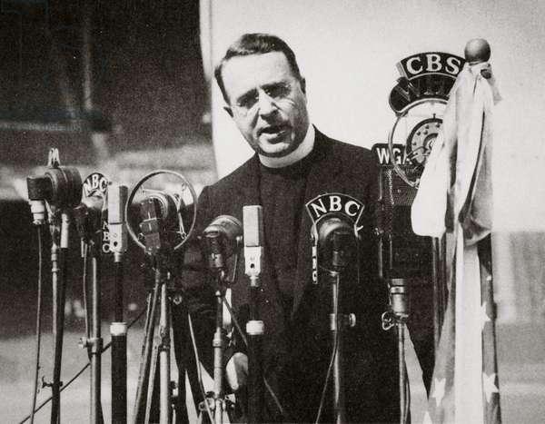Father Charles E. Coughlin (b/w photo)