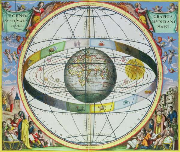 Map of Christian Constellations, from 'The Celestial Atlas, or The Harmony of the Universe' (Atlas coelestis seu harmonia macrocosmica) pub. by Joannes Janssonius, Amsterdam, 1660-61 (hand coloured engraving)