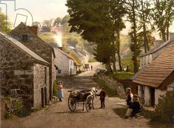 Glenoe Village, County Antrim, pub. c.1890 - 1900 (chromolithograph)