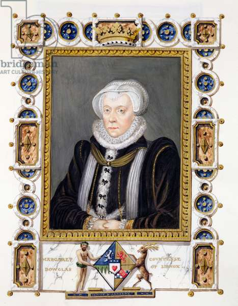 Portrait of Margaret Douglas (1515-78) Countess of Lennox from 'Memoirs of the Court of Queen Elizabeth', published in 1825 (w/c and gouache on paper)