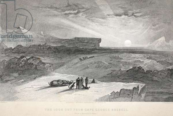 Look out from Cape George Russell, illustration from 'The second Grinnell Expedition in Search of Sir John Franklin...', 1856 (engraving)