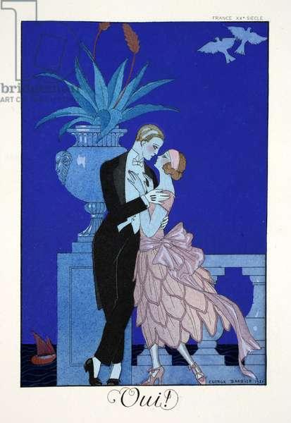 Yes!, from 'Falbalas & Fanfreluches, Almanach des Modes Présentes, Passées et Futures', 1922 (colour litho)