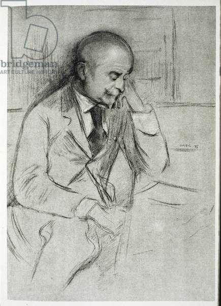 Portrait of Joris Karl Huysmans (1848-1907), 1895 (litho)