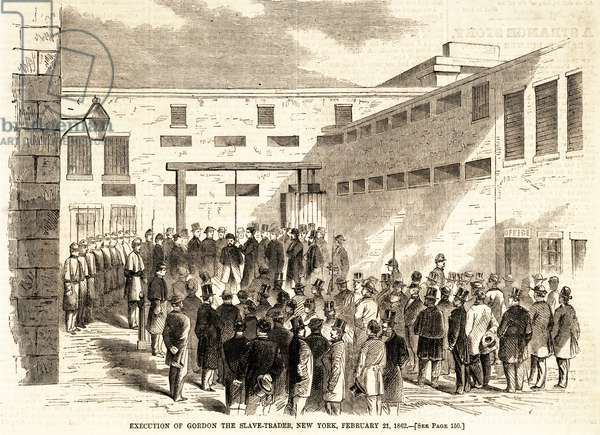 Execution of Gordon the Slave Trader in New York, 21st Febuary 1862 (engraving)