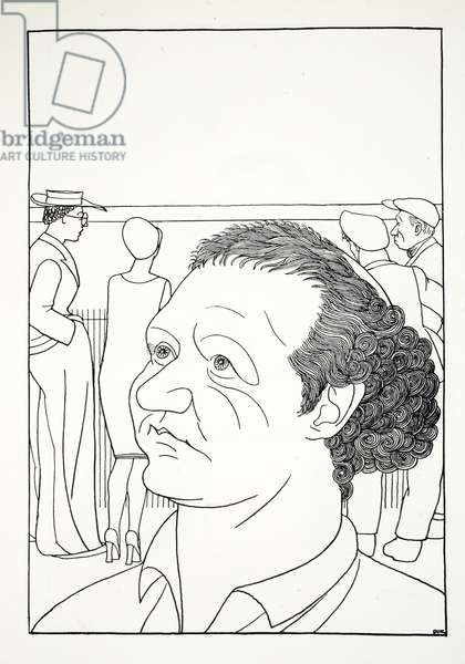 Mr Jacob Epstein, illustration from Eighty Eight Cartoons by Powys Evans, pub. Cayme Press, 1926 (litho)