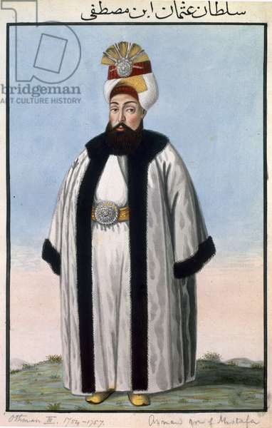 Othman (Osman) III (1699-1757) Sultan 1754-57, from 'A Series of Portraits of the Emperors of Turkey', 1808 (w/c)