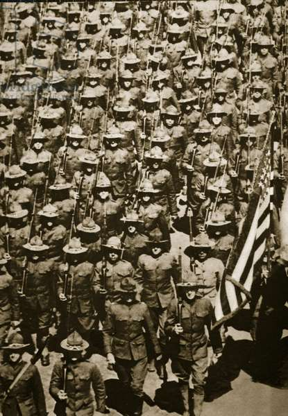 'The Yanks are coming' (sepia photo)