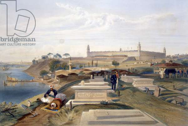 Hospital and Cemetery, Scutari, plate from 'The Seat of War in the East', pub. by Paul & Dominic Colnaghi & Co., 1856 (litho)