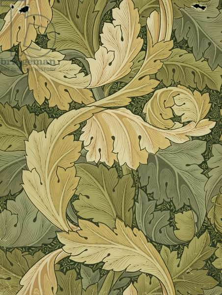 Wallpaper Design with Acanthus/Woodland colours, 1875