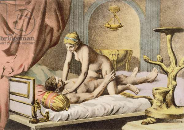 Ancient Times, plate III from 'De Figuris Veneris' by F.K. Forberg, engraved by the artist, 1900 (litho)
