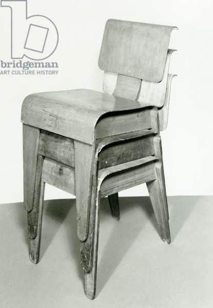 Stacking Chairs, Marcel Breuer (1902-1981), 20th century, photograph