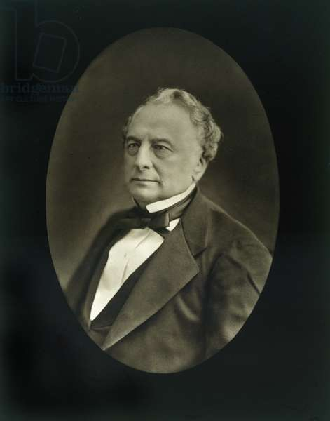 Isaac Pereire (1806-80), from 'Galerie Contemporaine', c.1874-78 (b/w photo)