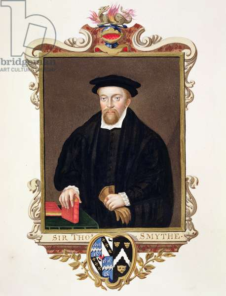 Portrait of Sir Thomas Smythe (c.1558-1625) from 'Memoirs of the Court of Queen Elizabeth', published in 1825 (w/c and gouache on paper)