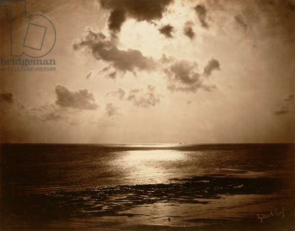 Solar Effect - Ocean, 1857 (albumen print from a collodion-on-glass negative)