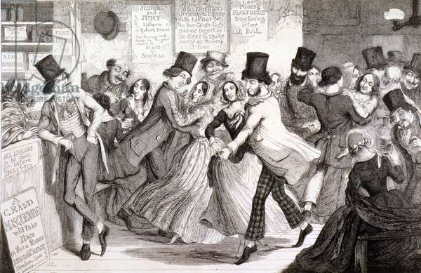 The Dancing Rooms, plate 3 of 'The Drunkard's Children', 1848 (engraving)