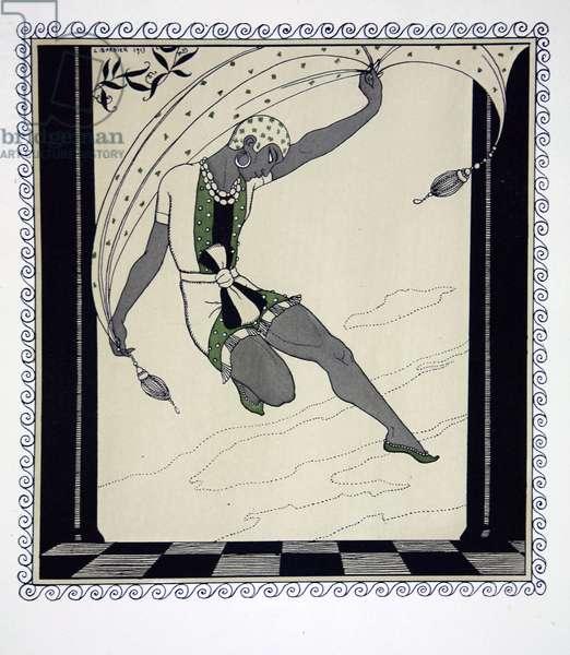 Cleopatre, from the series 'Designs on the dances of Vaslav Nijinsky' (1889-1950). Georges Barbier (1882-1932), Pochoir Print