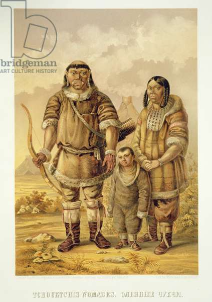 Chukchi Nomads, engraved by Winckelmann and Sons (litho)