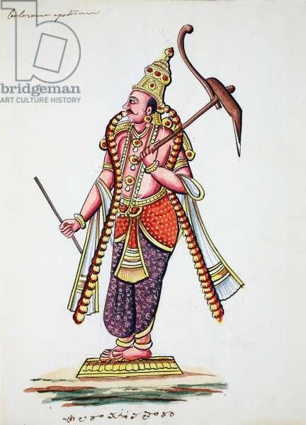 Balarama, 9th avatar of Vishnu (w/c on paper)