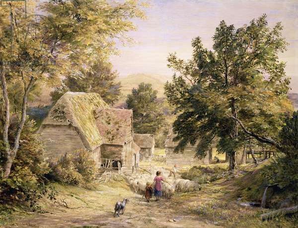 A Farmyard near Princes Risborough, 1845/6 (w/c on paper)