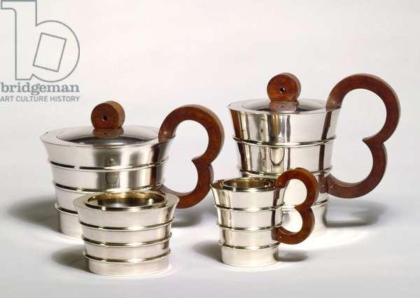 Silver Tea Set, 1920s (silver)