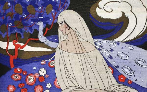 Song of Denderan (pochoir print)