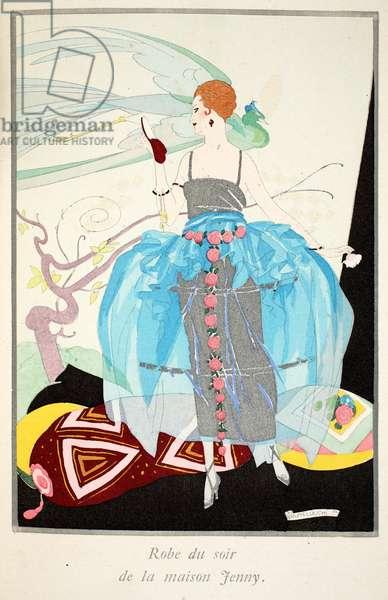 Evening Gown by Jenny, 1919-21 (pochoir print)
