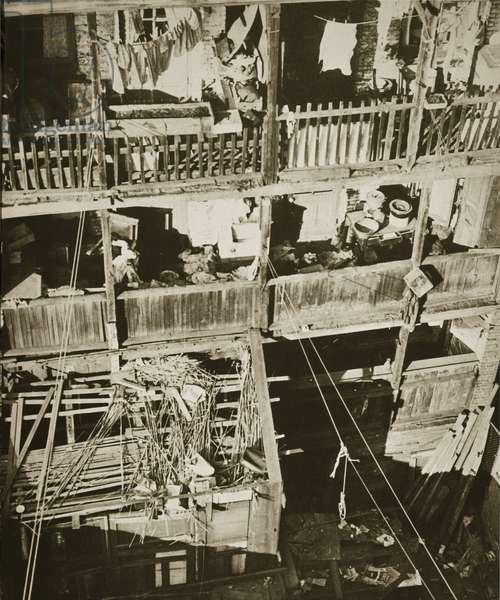 Tenement buildings, lower East Side, New York, 1930-32 (b/w photo)