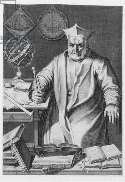 Portrait of Cardinal Christopher Clavius , 1606 (engraving