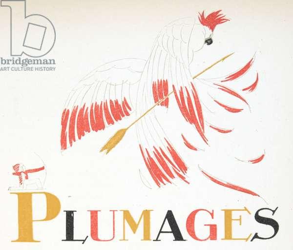 Plumages, from Gazette de Bon Ton, pub.  1920 (pochoir print)