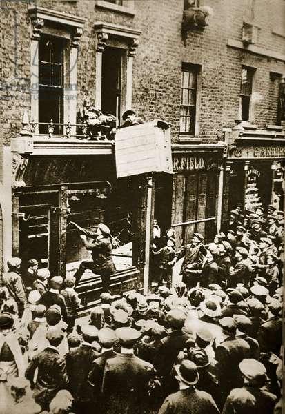 German Shop in London (sepia photo)