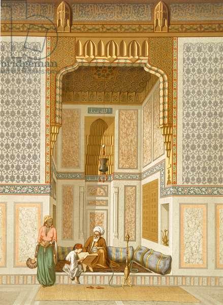 Bordeyny Mosque, Cairo (colour litho)