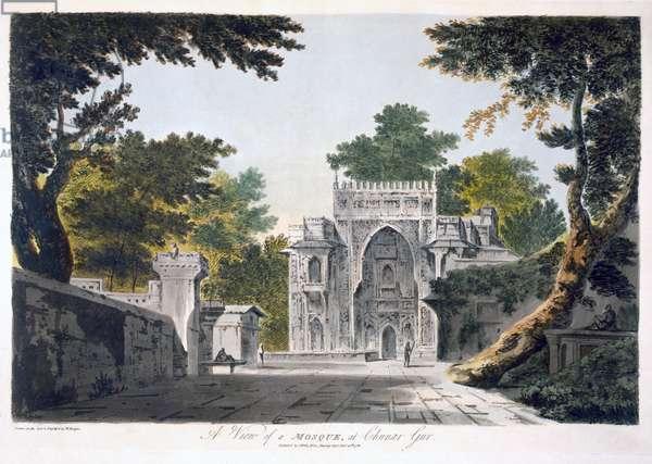 View of a Mosque at Chunar Gur, 1786 (aquatint)