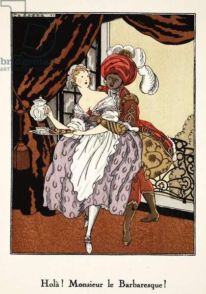 Hola! Monsieur le Barbaresque!, 1921 (pochoir print)