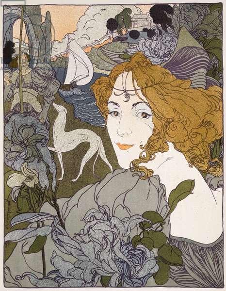 The Return, 1897, from 'L'Estampe Moderne', published Paris 1897-99 (colour litho)
