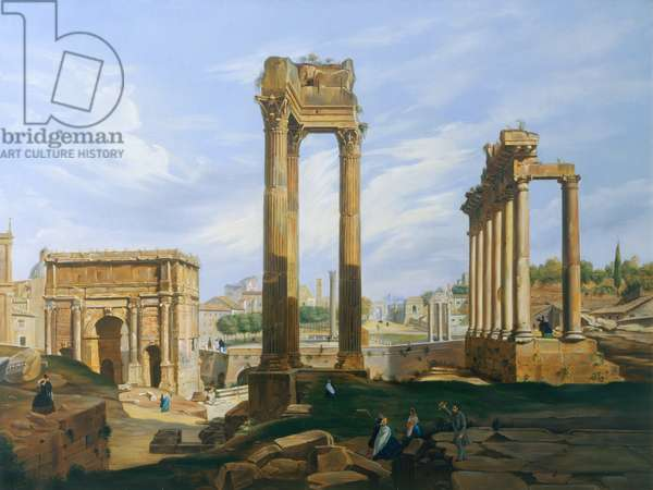 The Roman Forum (oil on canvas)