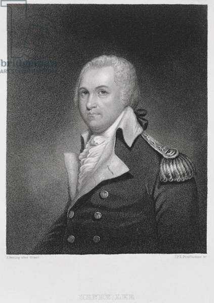 General Henry Lee (1756-1818), engraved by John Francis Eugene Prud'Homme (1800-92) after a copy of the original painting by James Herring (1794-1867) (engraving)