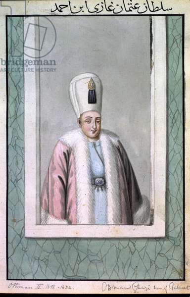 Othman (Osman) II (1603-22) Sultan 1618-22, from 'A Series of Portraits of the Emperors of Turkey', 1808 (w/c)