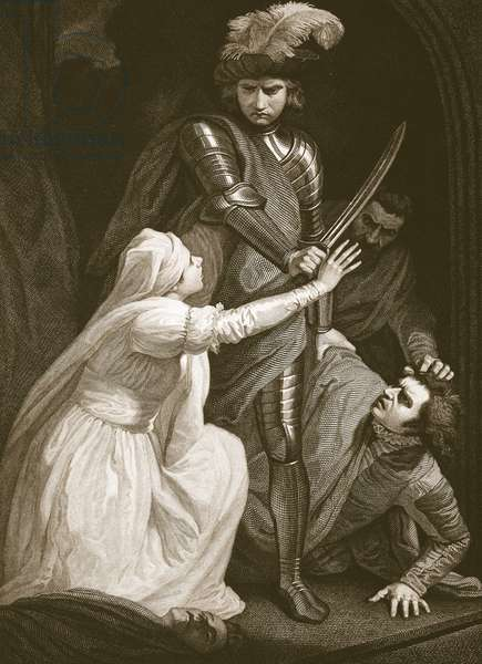 The Seizing of Mortimer, engraved by J. Fittler, illustration from David Hume's 'The History of England', pub. by R. Bowyer, London, 1812 (engraving)