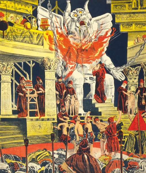 """Detail from a poster promoting """"Cabiria"""", published 1914 (colour litho)"""