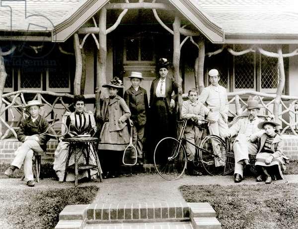 Family Group, c.1900 (b/w photo)