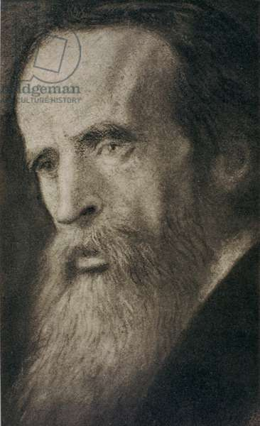 Portrait of Sir Leslie Stephen (1832-1904) (litho)