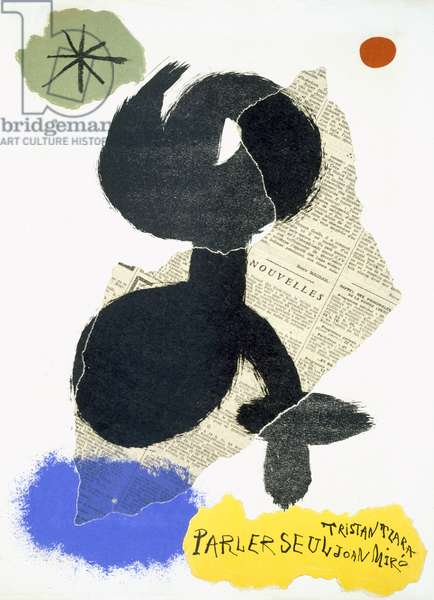 Illustration for Tristan Tzara's 'Parler Seul', Paris, Maeght Editeur, 1950 (colour litho)