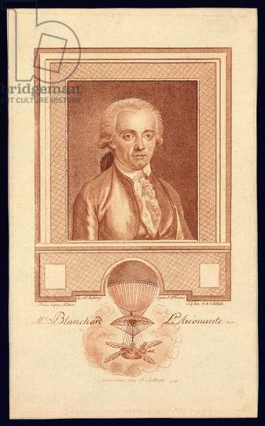 Mr. Blanchard, Aeronaut, c.1780-1800 (stipple engraving)