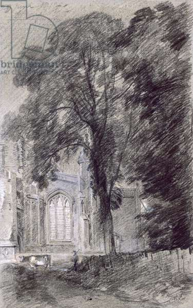 East Bergholt Church - West End (graphite on paper)