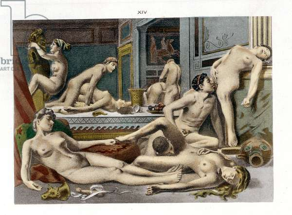 Ancient Times, from 'De Figuris Veneris' by F.K Forberg, engraved by the artist, 1900 (litho)